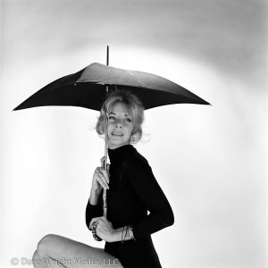 Dare's Story Photo of Dare Wright Posing with an Umbrella