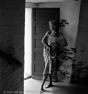 Dare's Story Photo of Dare Wright Posing in the Lighthouse on Ocracoke Island