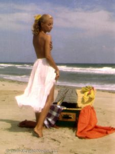 Dare's Story Photo of Dare Wright Posing on Beach on Ocracoke