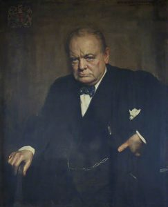 Edith Stevenson Wright's portrait of Winston Churchill