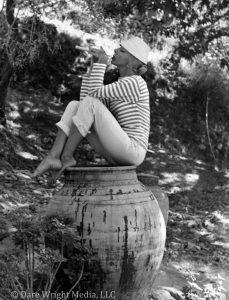 Dare Wright At Gayelord Hauser's Villa in Taormina On Sicily